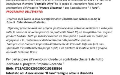 """Programma evento di beneficienza """"Famiglie Oltre"""" 2021"""